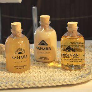 The Sahara bottles boast fill with an beautiful marula & olive fragrance and a natural colour scheme to work with any earthy toned bathroom.
