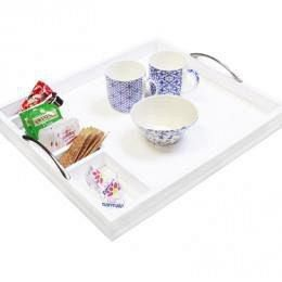Beverage Tray with Handles (available in dark wood or white only)